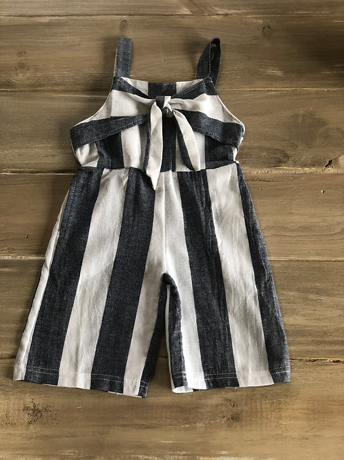Lexi Bow Front Blue & White Stripe Jumper