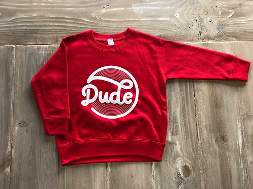 Dude Red Pullover