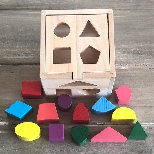 Colorful Wooden Shape Box Puzzle