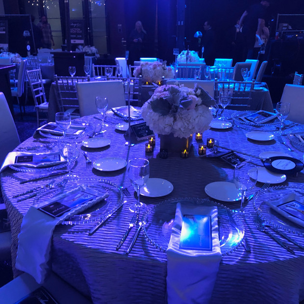 Gaslamp Gala Table Setting Night