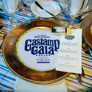 Gaslamp Gala Charger and Menu
