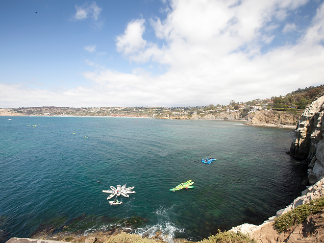 La Jolla cover kayaking