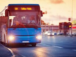 Blue Shuttle Bus