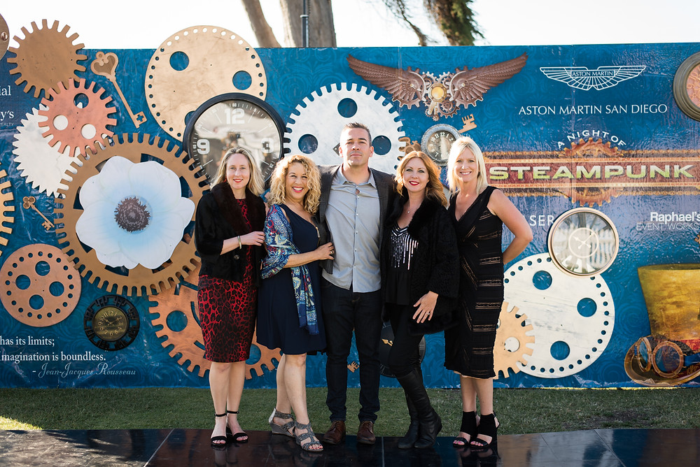 "Steampunk 3d step & repeat for A Night of Steampunk for the La Jolla Concours d""Elegance"