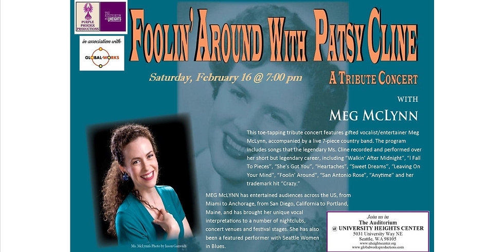 """Purple Phoenix Productions presents: """"Foolin' Around with Patsy Cline'"""