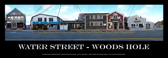 """Water Street - Woods Hole Composite Art 36"""" Poster"""