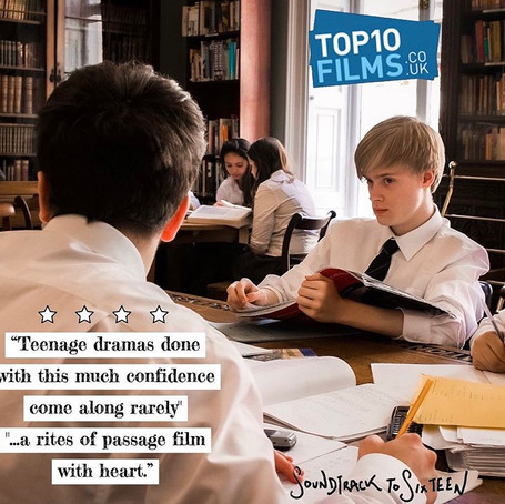 Top 10 Films - 4 Star Review of Soundtrack to Sixteen
