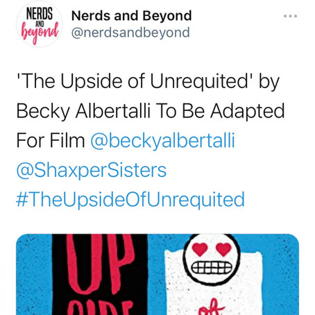 'The Upside of Unrequited' by Becky Albertalli To Be Adapted For Film