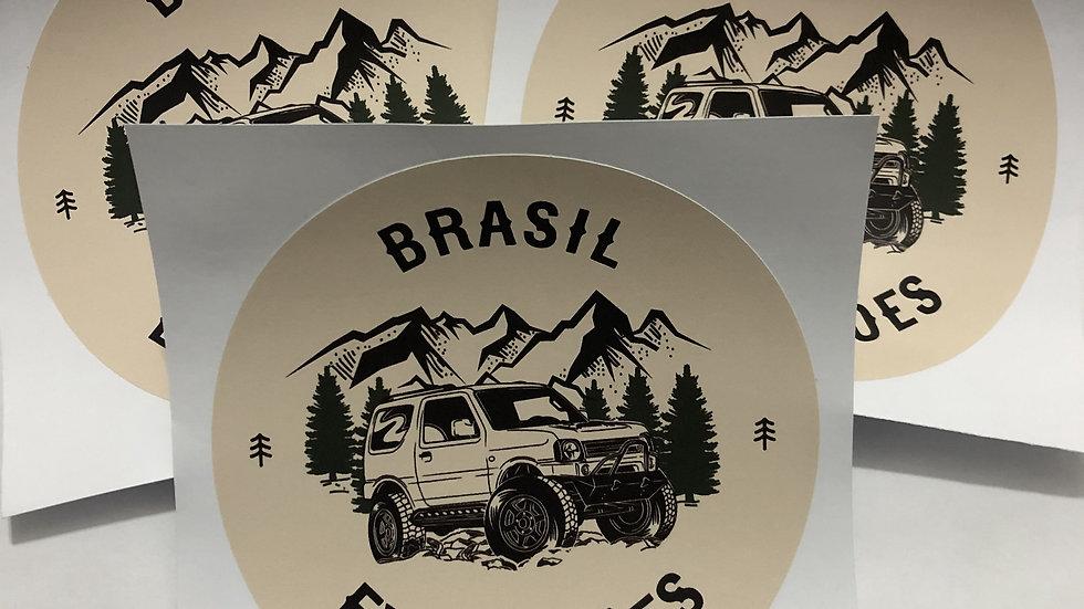 Adesivo 12x12cm (três unidades) - FRETE GRÁTIS