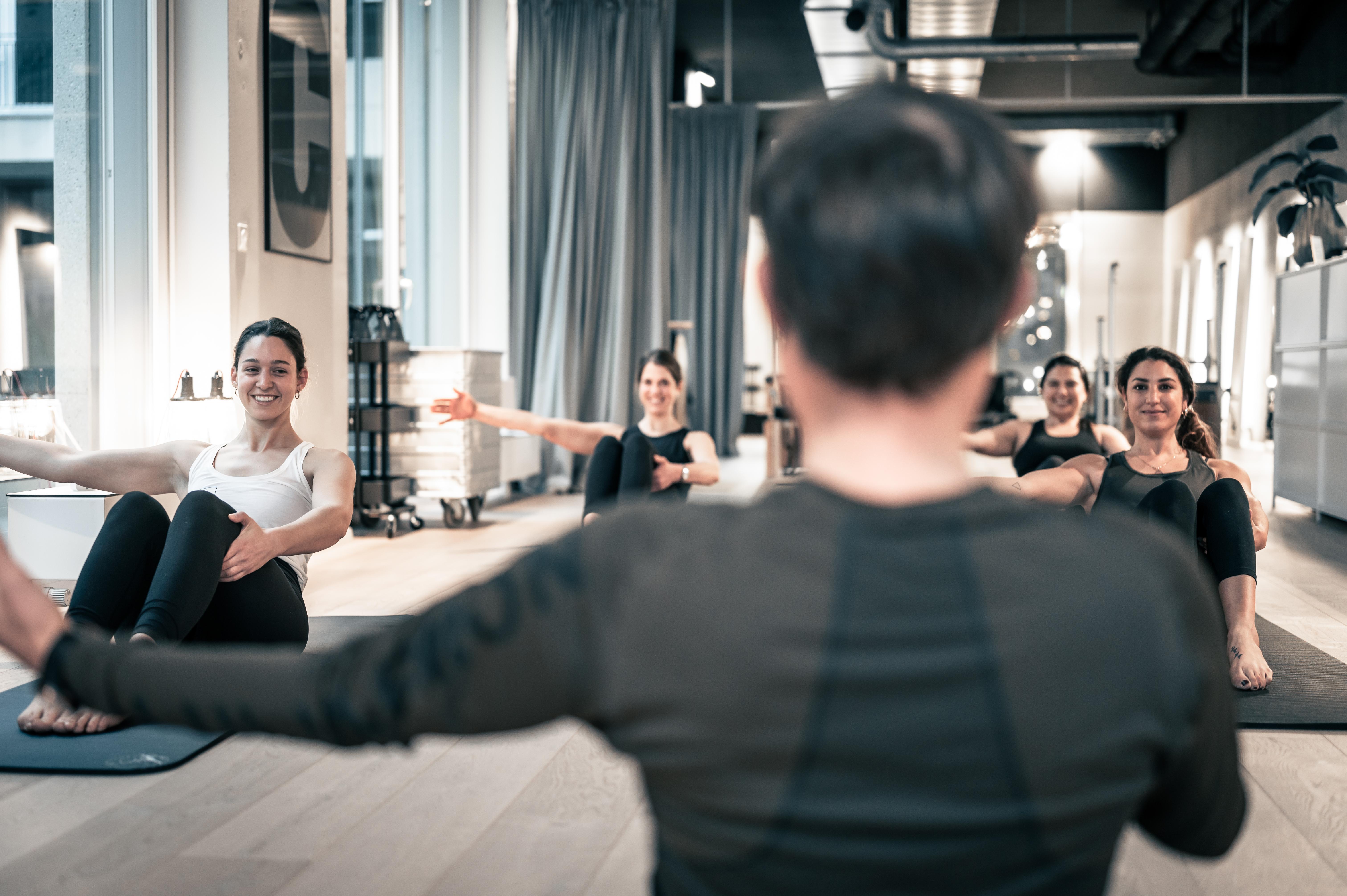 Pilates Gruppe Matte