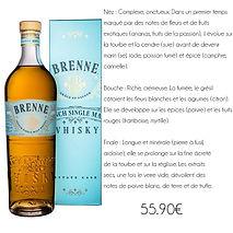Brenne French single Malt bio copie 55,9