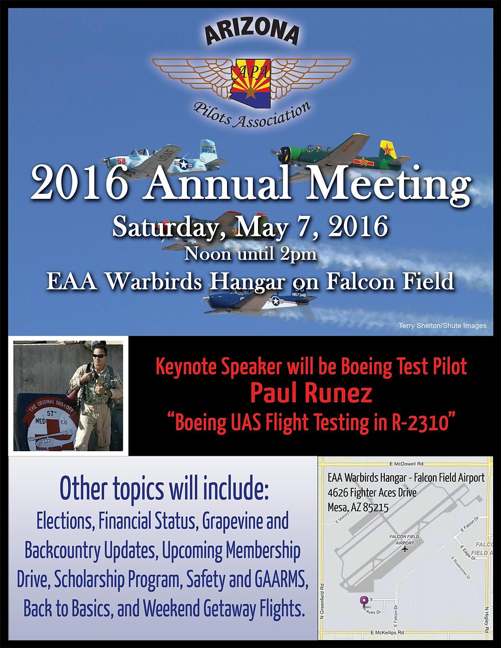 arizona pilots association 2016 annual meeting