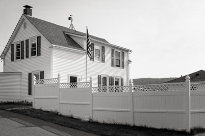 House and Fence Northeast Harbor