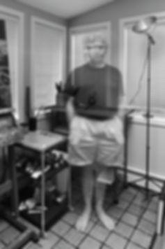 Pete Ziegler in his studio