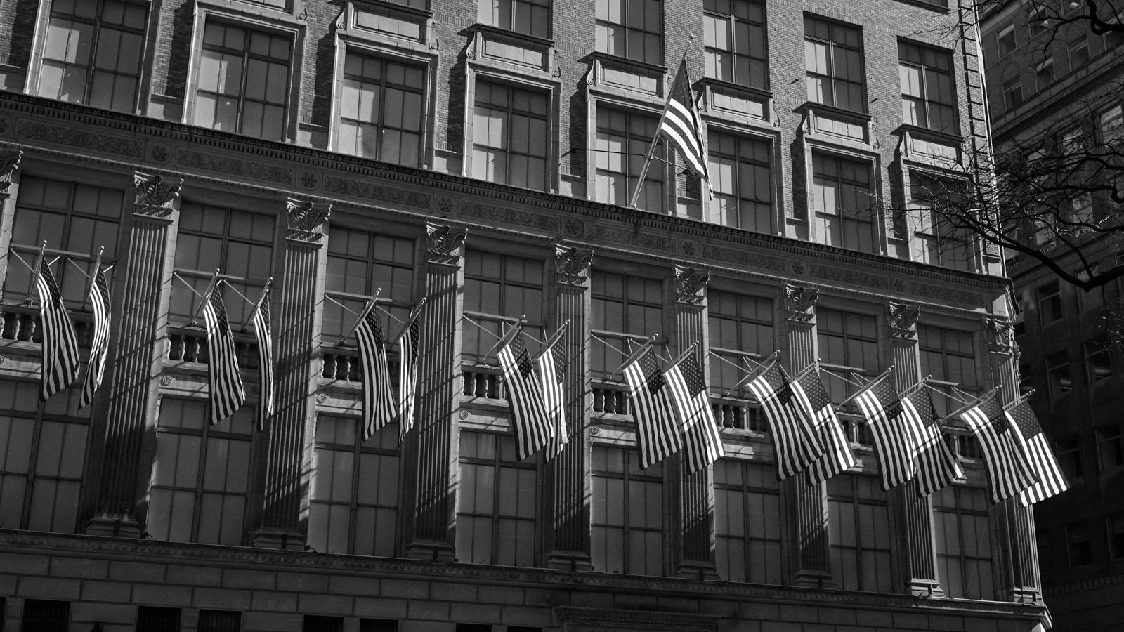 Flags Along Seventh Avenue