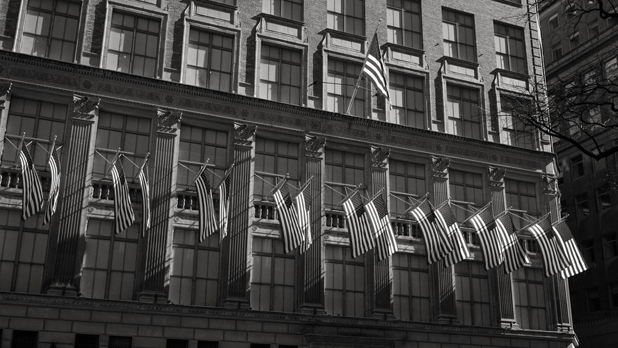 Flags Along Seventh