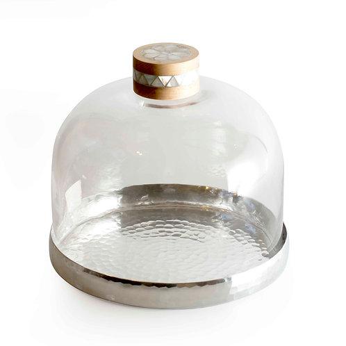 Glass Bonbonier Cover & Almn.