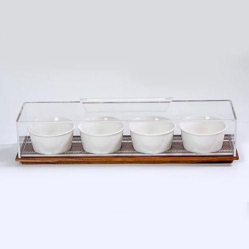 Bowl with Tray & Cover