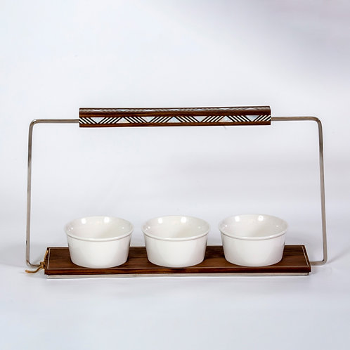 Serving Tray with bowl