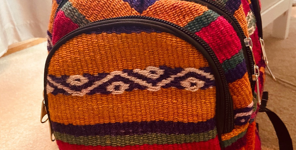 Bolivian Woven Backpack