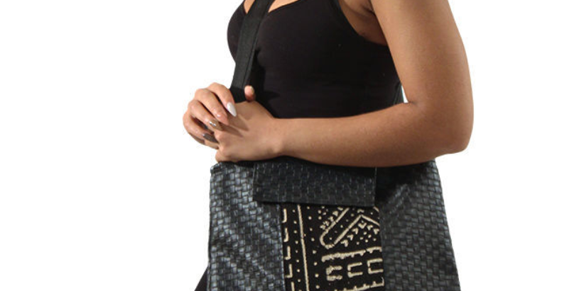 Mud Cloth & Woven Handbag