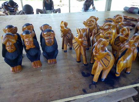 Wood Carvings in Liberia