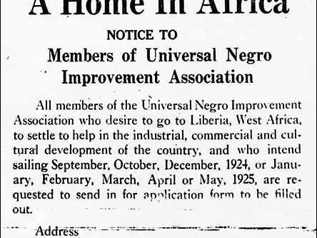 The Back to Africa Movement