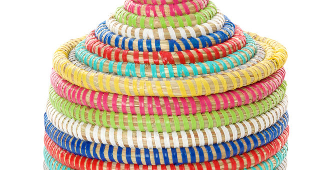 Mini Rainbow Stripes Warming Basket