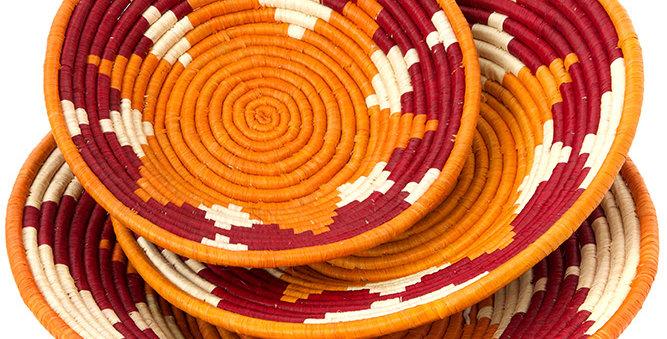 Ugandan Sweet Potato and Sorghum Raffia Coil Baskets