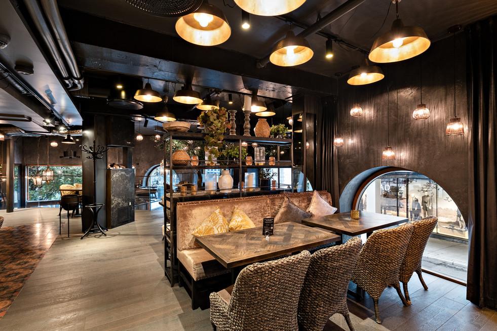 Terrastone på prosjekt, Olivia restaurant.