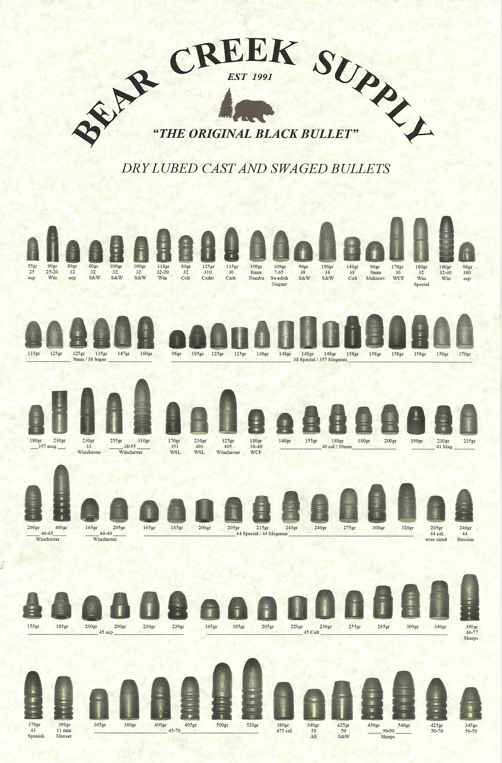 Bullet Selection - Bear Creek Supply