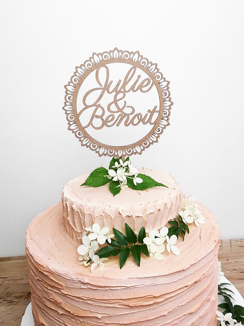 Cake topper duo - personnalisable -