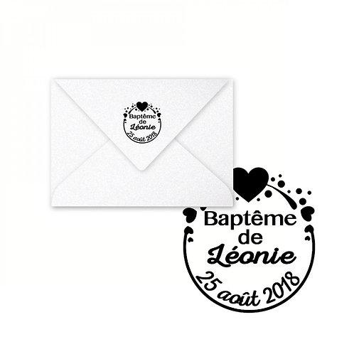 Tampon - Baptême coeur -
