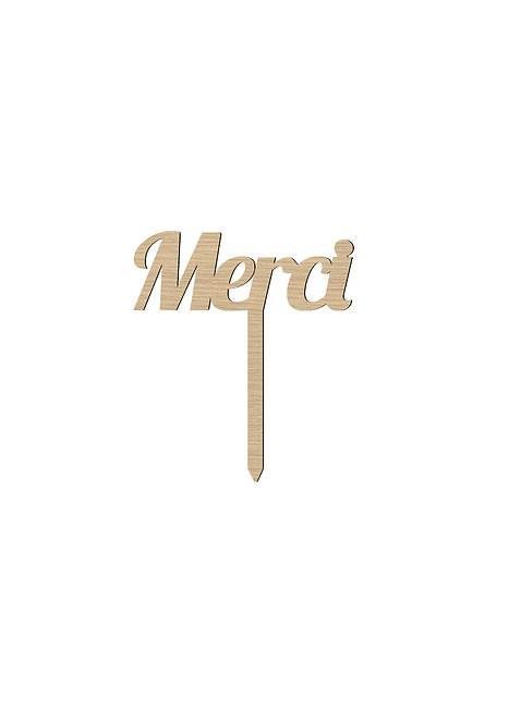 "Cake Topper ""Merci"""