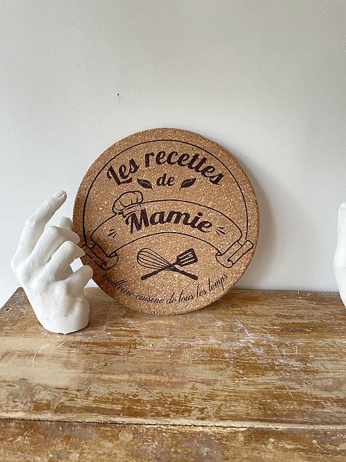 Dessous de plat en liège - les recettes de Mamie  -