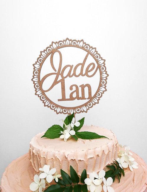 Cake topper prénom + age - personnalisable -