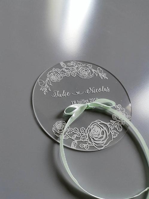Porte alliances plexiglas- Roses-