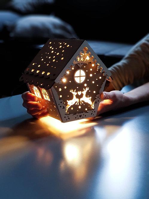 Lampe chalet Noël