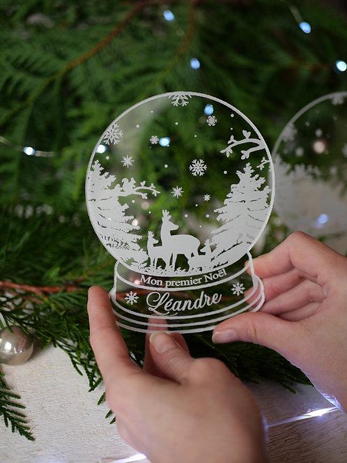 Boule a neige Mon premier Noël/ Joyeux Noël -  personnalisable -  série limitée