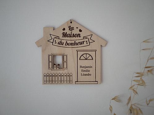 Décoration La maison du bonheur bois