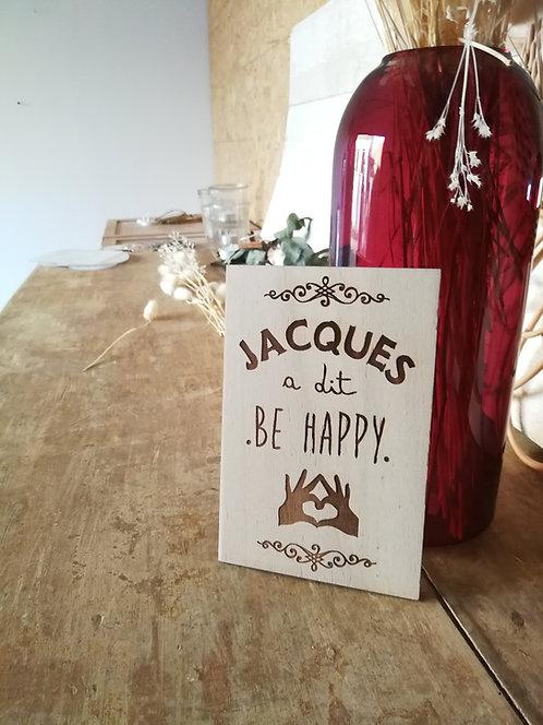 """Carte en bois """"Jacques a dit"""""""