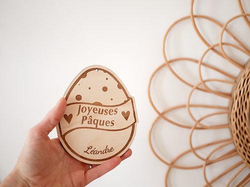 """Carte """"Joyeuses pâques/Ma première fête de pâques"""" -modèle pois-"""