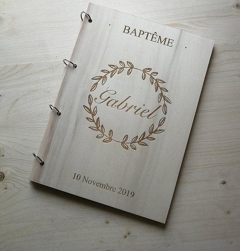 Livre d'or BAPTÊME-différents motifs- bois