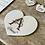 Thumbnail: Carte en bois  coeur  lettrine et Prénom au choix