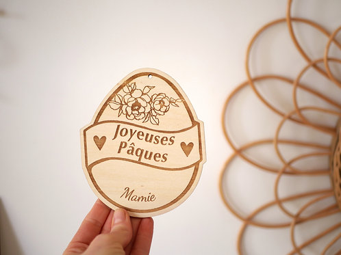 """Carte """"Joyeuses pâques/Ma première fête de pâques"""" -modèle fleurs-"""