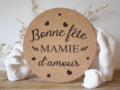Dessous de plat en liège - Bonne fête Mamie d'amour -