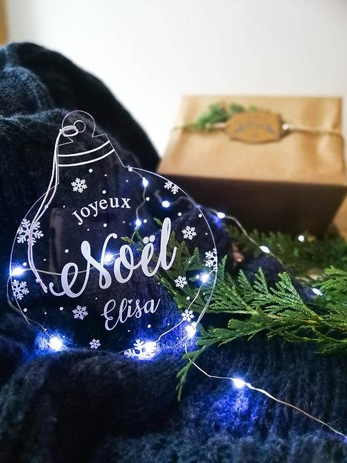 Boule Mon premier Noël/ Joyeux Noël - décoration personnalisable