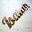 Thumbnail: Enseigne prénom plexiglas or ou argent