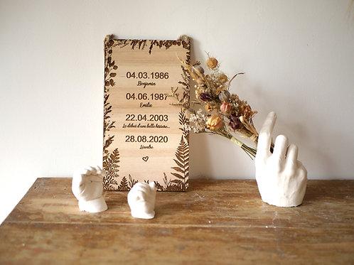 Décoration bois -Les jolies dates-