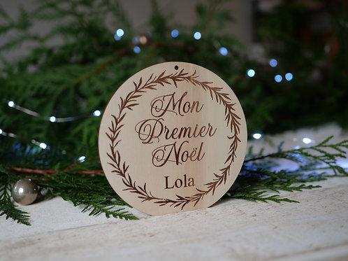 Mon premier Noël/ Joyeux Noël -Végétal- décoration personnalisable